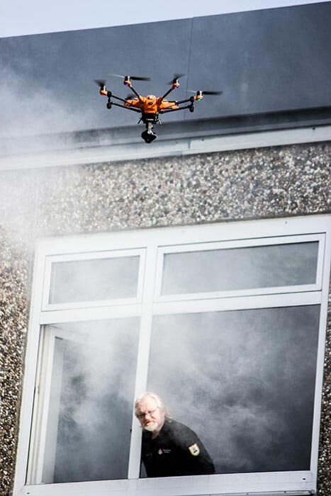 Technische Ortung: Drohne mit Wärmebildkamera