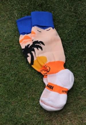 Hockey Kleding Kousen Beach Smiley Oranje