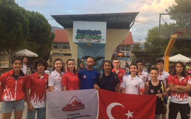 TDF Spor Tırmanış Milli Takımı Yunanistan'dan 3 madalya ile döndü.