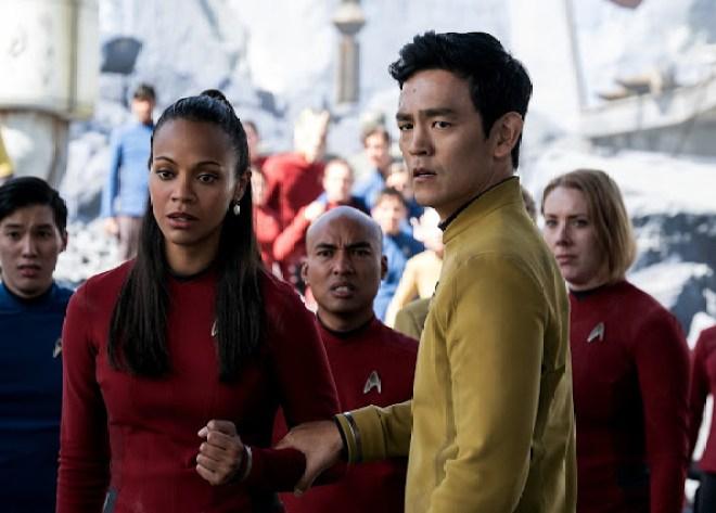 Star Trek Beyond: Zoe Saldana, John Cho