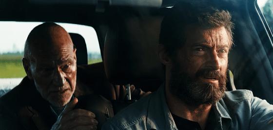 Patrick Stewart (Charles Xavier) şi Hugh Jackman (Wolverine)