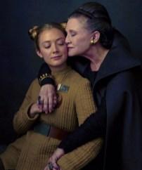 Carrie Fisher împreună cu fiica ei Billie Lourd