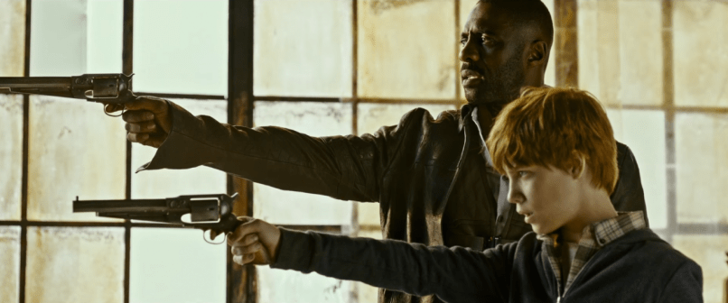 Idris Elba şi Tom Taylor în THE DARK TOWER.