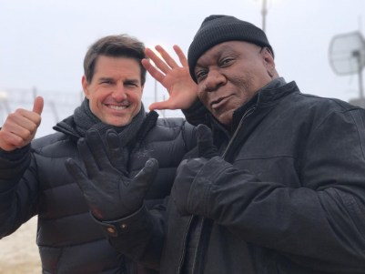 Mission: Impossible - Fallout (2018): Tom Cruise si Ving Rhames la filmari.