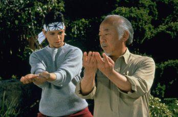 Ralph Macchio si Pat Morita in Karate Kid (1984)