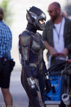 Evangeline Lilly la filmari pentru Ant-Man And The Wasp