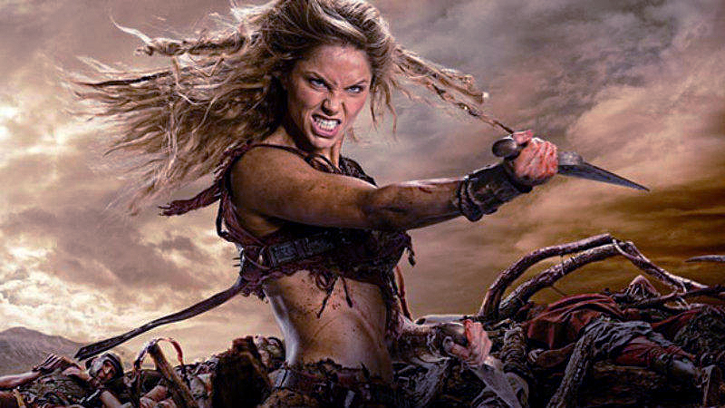 Gladiatoarea Saxa in serialul Spartacus: War Of The Damned