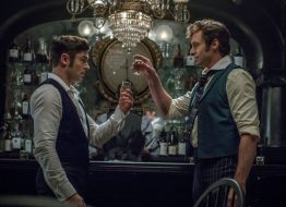 THE GREATEST SHOWMAN: Hugh Jackman (P.T. Barnum) and Zac Efron (Philip Carlisle)