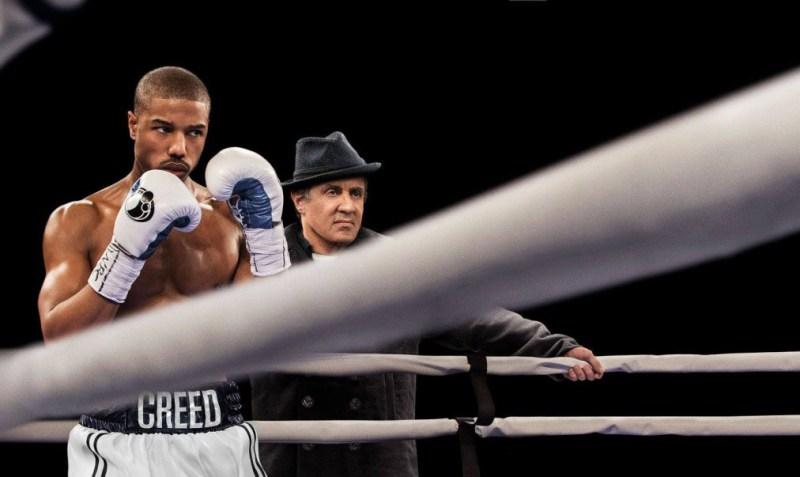 Sylvester Stallone şi Michael B. Jordan în Creed (2015)