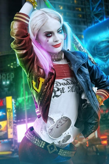 Harely Quinn (Margot Robbie) în filmul Suicide Squad.