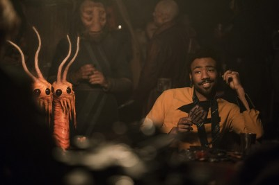 Donald Glover ca Lando Calrissian in Solo: A Star Wars Story