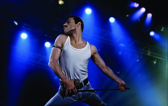 Rami Malek as rock icon Freddie Mercury in the BOHEMIAN RHAPSODY.