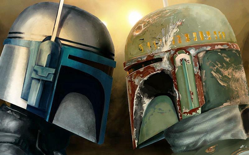 Personajele Star Wars Jango și Boba Fett