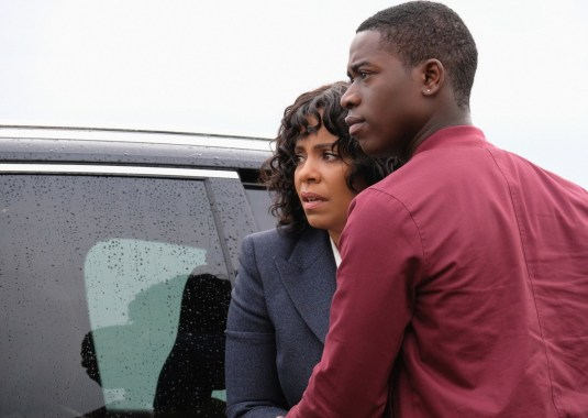 Sanaa Lathan as Nina Harrison and Damson Idris as Dorian Harrison of THE TWILIGHT ZONE