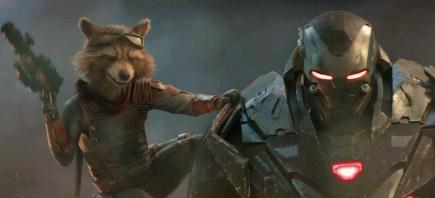 Avengers: End Game - Rocket si War Machine