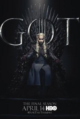 Poster Urzeala Tronurilor Sezonul 8: Daenerys Targaryen