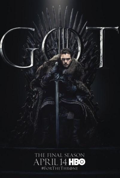 Poster Urzeala Tronurilor Sezonul 8: Jon Snow