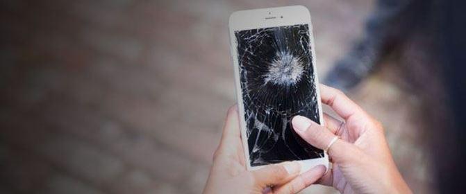 damaged screen