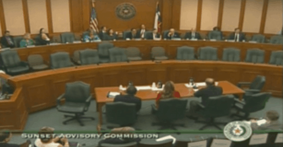 Sunset Commission Hearing