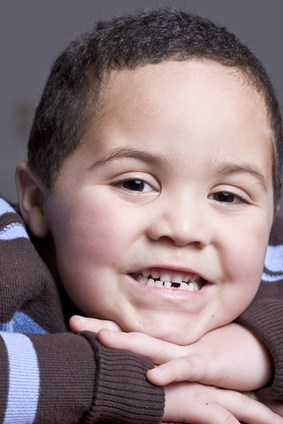 Young boy with dental issues