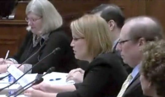 Christine Ellis testifying in Washington
