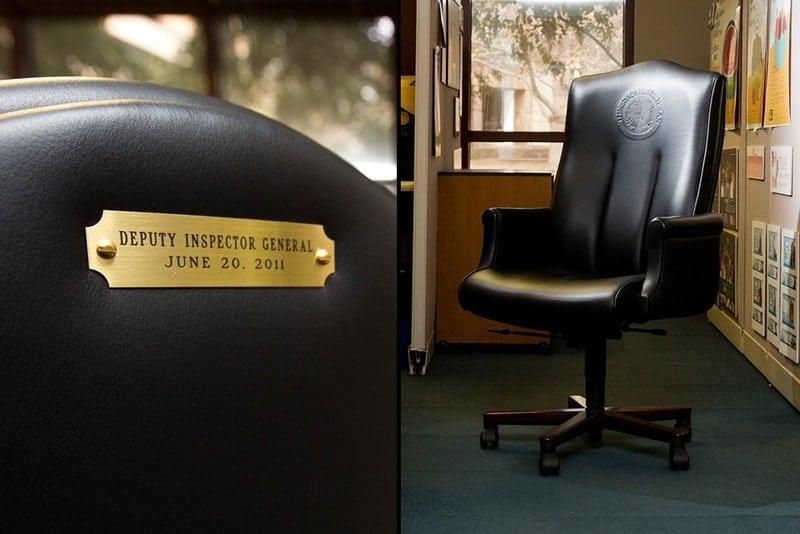Jack Stick's $2,800 chair.  Photo credit: Callie Richmond