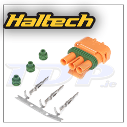 Plug and Pins Only - Delco Weather Pack 3 pin GM Style MAP Sensor Connector - Orange
