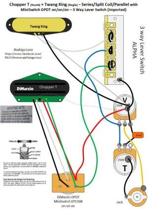 Need Help!!! SeriesSplitParallel with DPDT (ononon) 3way switch | Telecaster Guitar Forum