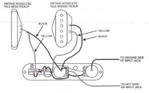 Fender Tele Noiseless Wiring Diagram  Somurich