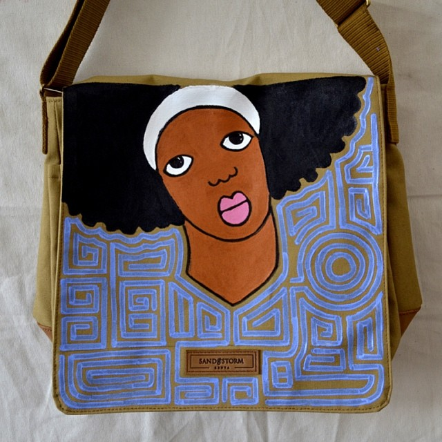 SandstormKenya x MichaelSoi canvas messenger. [Image: Courtesy of Sandstorm Kenya]