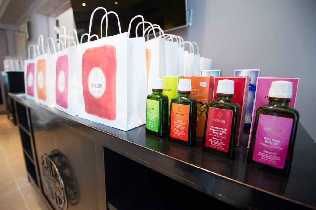 Weleda Hampers for the models to takeaway after the shows. [Image: Courtesy of Weleda]