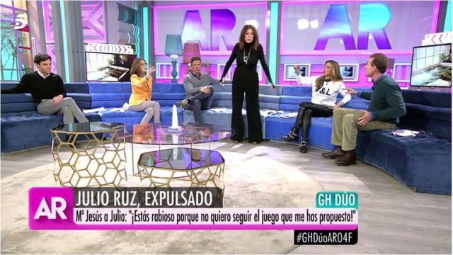 Ana Rosa Quintana se cabrea con uno de sus colaboradores por Julio Ruz