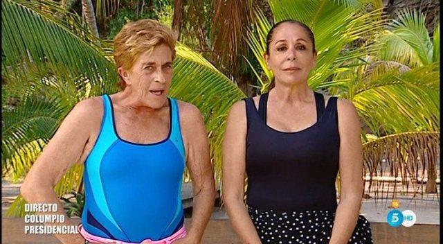 Tenso reencuentro entre Isabel Pantoja y Chelo García Cortés