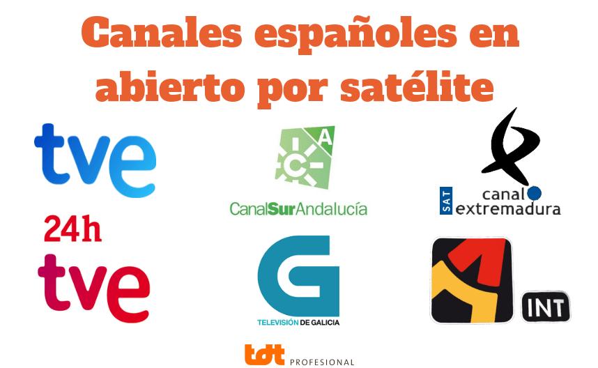 Canales españoles en abierto por satélite