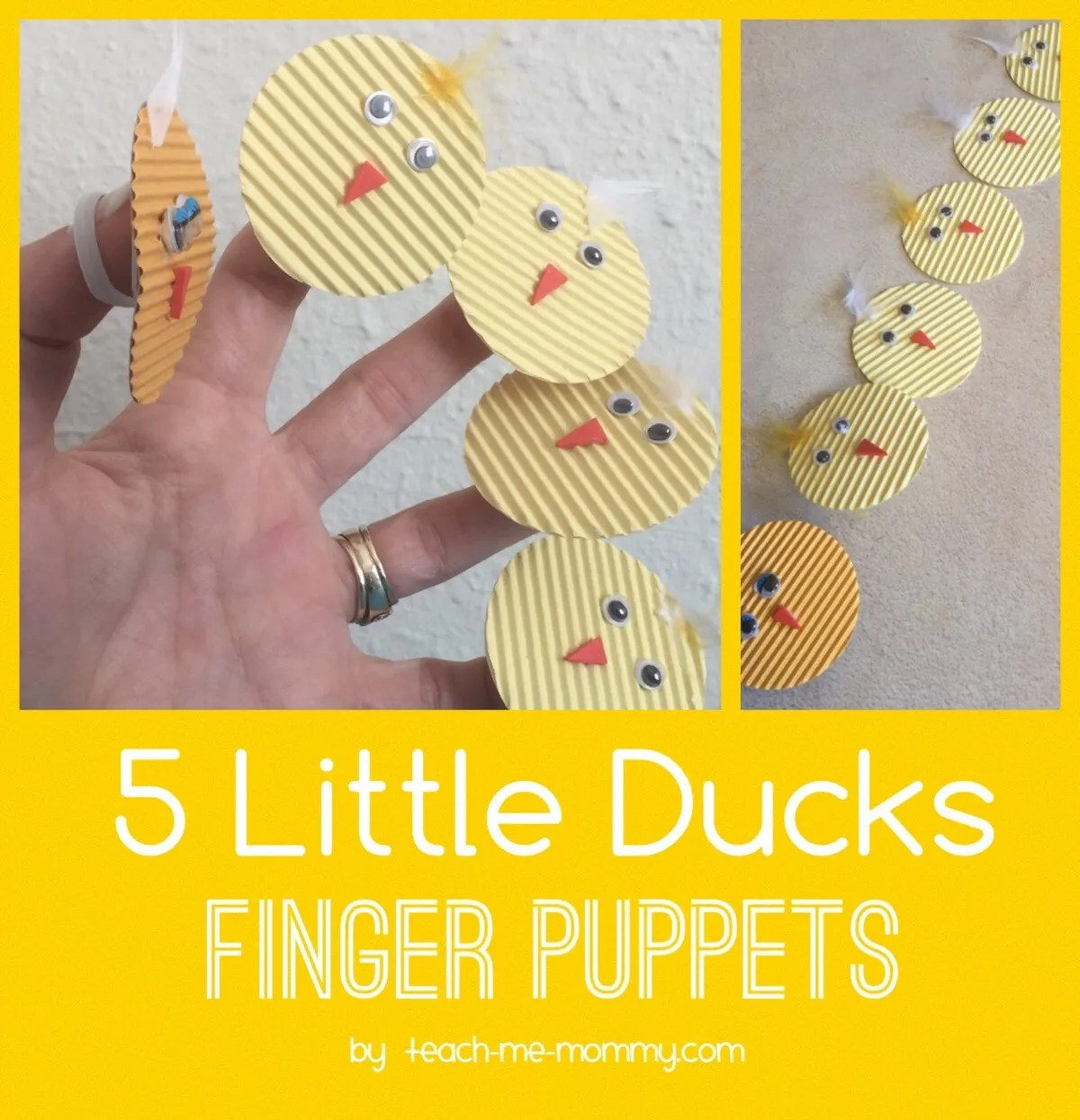 Five Little Ducks Finger Puppets