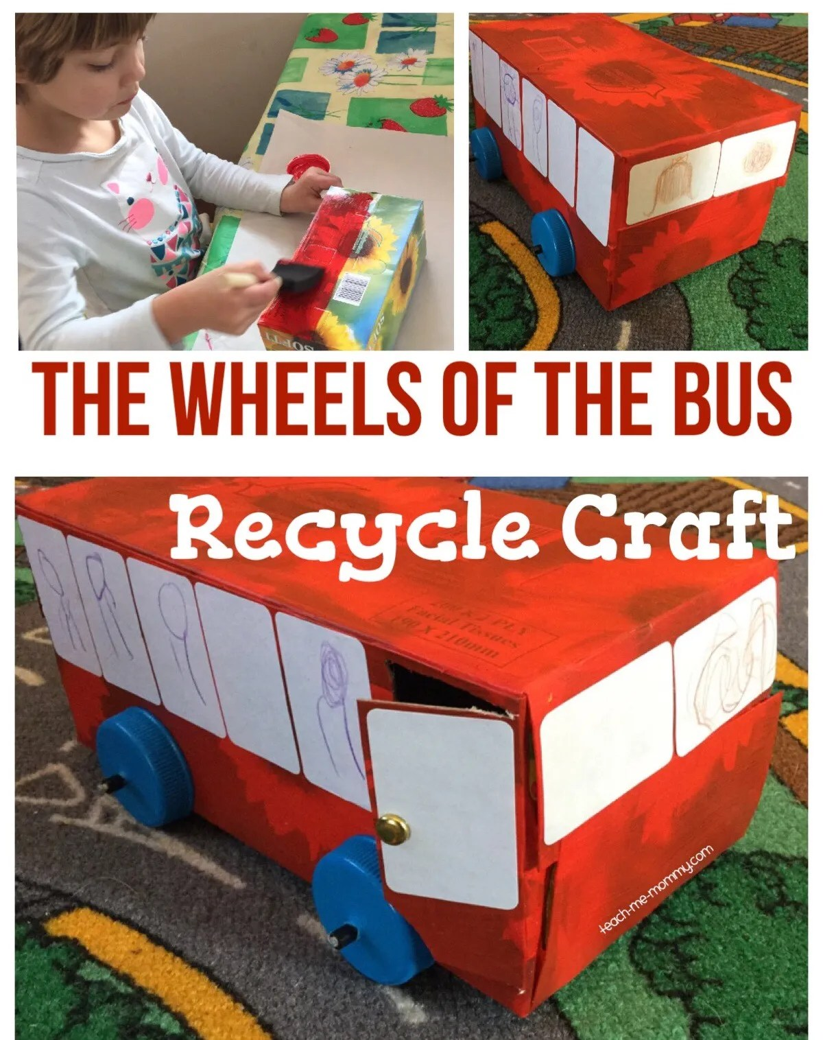 The Wheels Of The Bus Recycle Craft