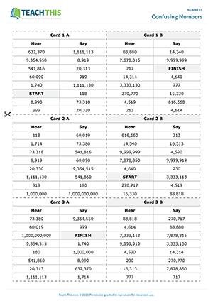 Numbers Esl Activities Games Worksheets