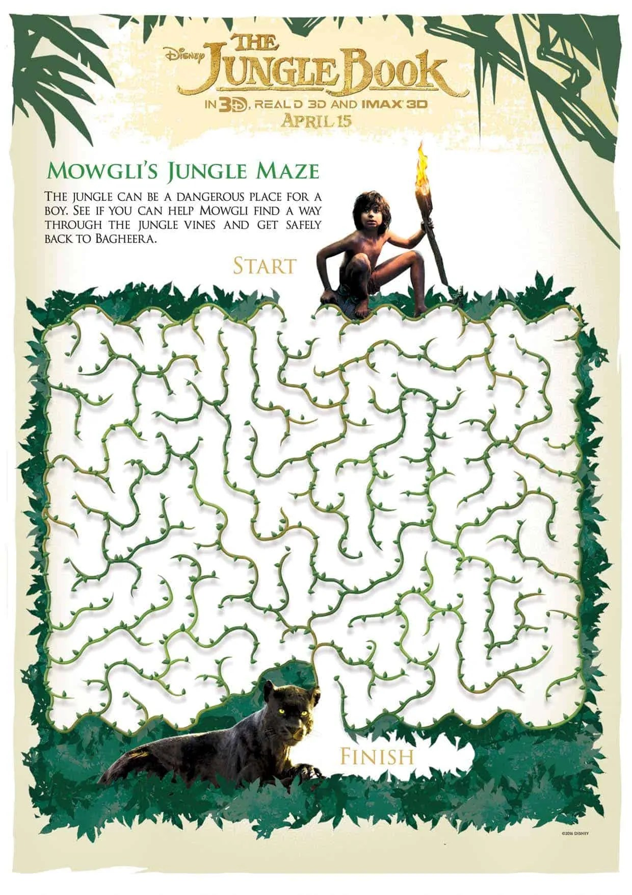 All About The Jungle Book And Printable Activities