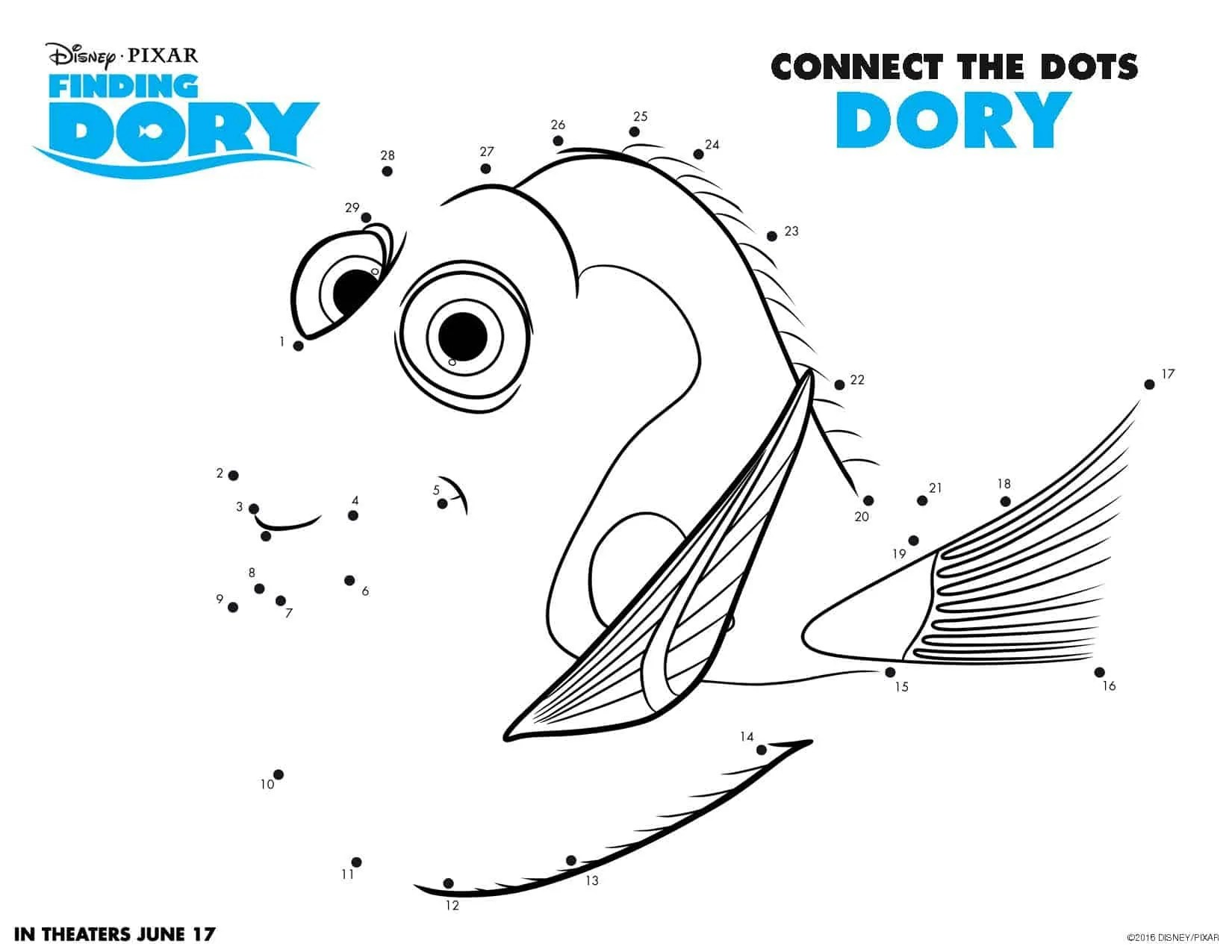 Finding Dory Free Printable Activities