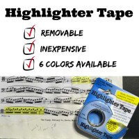 My new favorite thing - Highlighter Tape