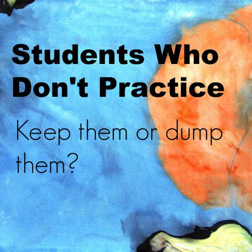 Students who don't practice