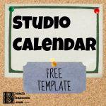 studio calendar template