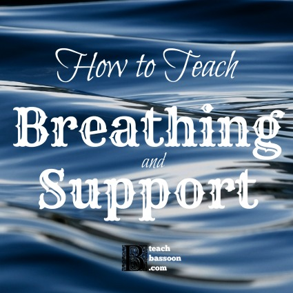 how to teach breathing and support