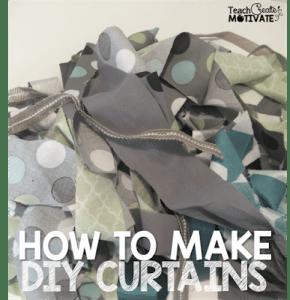DIY {Curtains} A Quick Tutorial!