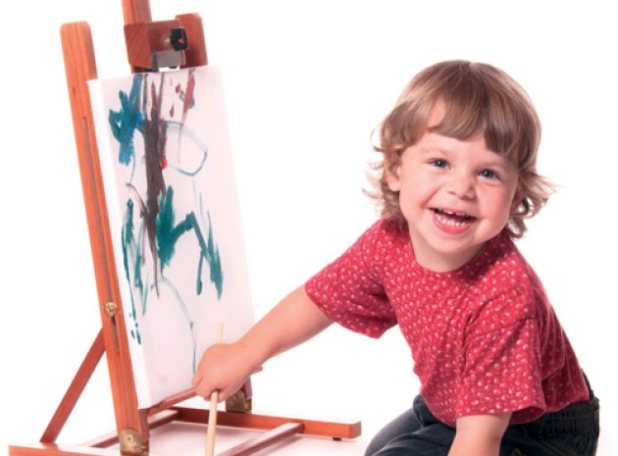 easel paint montessori activity