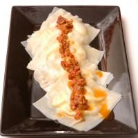 Smoked Gouda Ravioli with Sun Dried Tomato Garlic Sauce