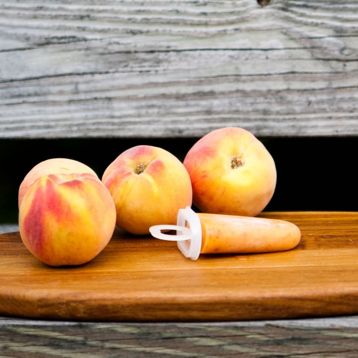 Ginger Peach Ice Pops