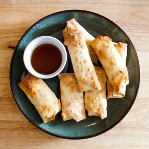 Enjoy this Excellent Egg Drop Soup with some amazing homemade Egg Rolls