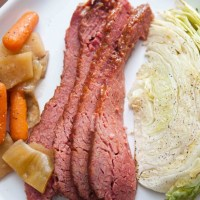 Easy & Delicious Corned Beef (crock pot then bake)
