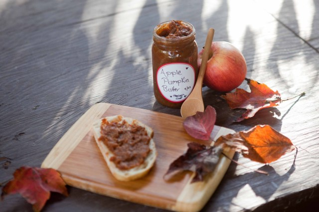 Fall Pumpkin Apple Butter on bread